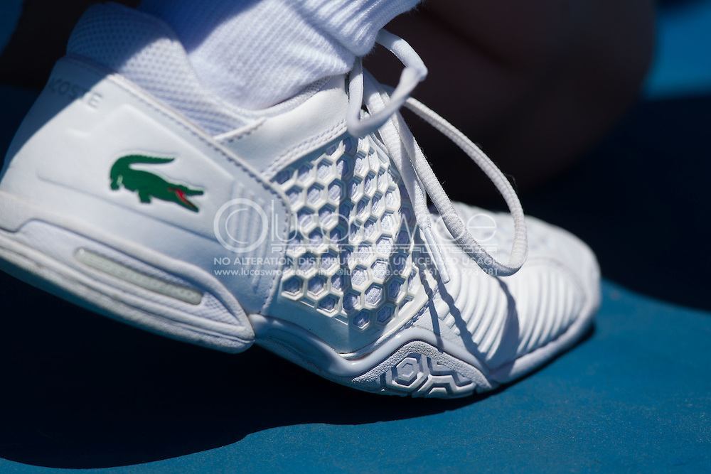 Lacoste Shoes Of The Official Staff. Australian Open Grand Slam Tennis Championship 2014. Melbourne Park, Melbourne, Victoria, Australia. 13/01/2014. Photo By Lucas Wroe