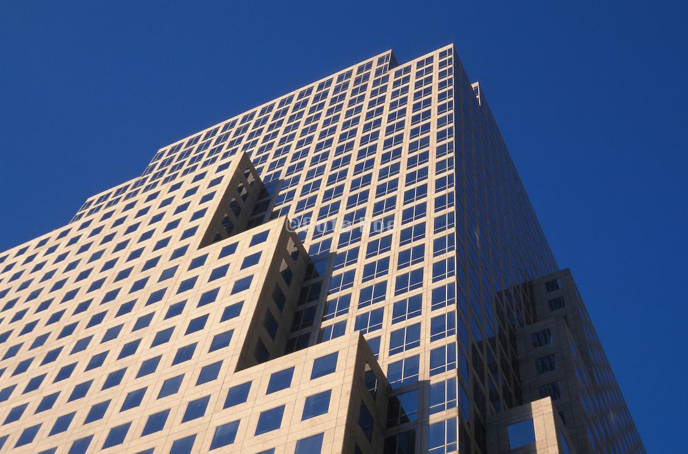 upward view of office building facade