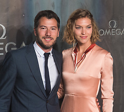 Tate Modern, London, April 26th 2017. Boniface Verney-Carron and Arizona Muse arrive at the Tate Modern in London for the 'Lost In Space' 60th anniversary event for the Omega Speedmaster watch.