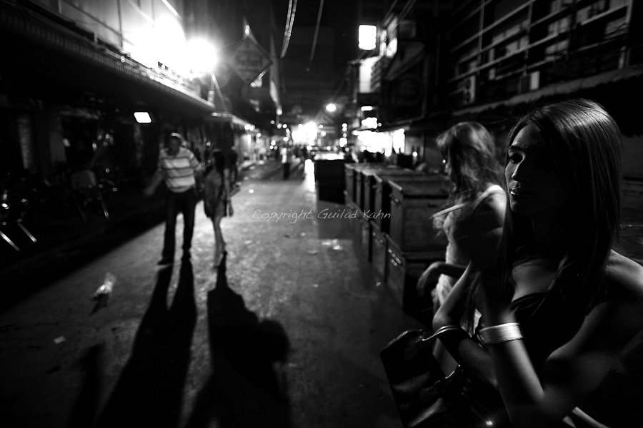 Bangkok after hours. The life in Bangkok late at night after all the night life is done.