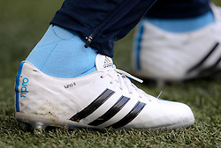 Manchester City's Frank Lampard's personalised Adidas football boots - Photo mandatory by-line: Matt McNulty/JMP - Mobile: 07966 386802 - 07/02/2015 - SPORT - Football - Manchester - Etihad Stadium - Manchester City v Hull City - Barclays Premier League