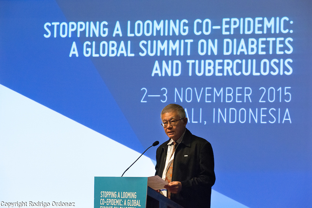 The WHO Representative to Indonesia, Dr Khanchit Limpakarnjanarat, speaks at the opening of the global summit on diabetes and tuberculosis in Bali, Indonesia, on November 2, 2015.<br /> The increasing interaction of TB and diabetes is projected to become a major public health issue.&nbsp;The summit gathered a hundred public health officials, leading researchers, civil society representatives and business and technology leaders, who committed to take action to stop this double threat. (Photo: Rodrigo Ordonez for The Union)