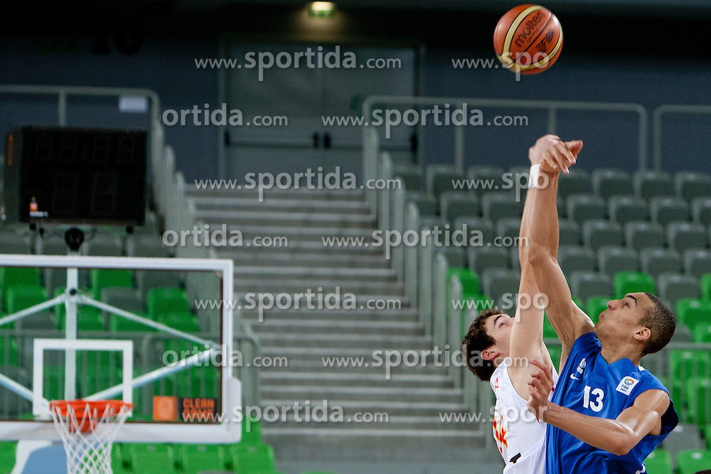 Rudy Gobert of France during basketball match between National teams of Spain and France in semifinal of U20 Men European Championship Slovenia 2012, on July 21, 2012 in SRC Stozice, Ljubljana, Slovenia. (Photo by Urban Urbanc / Sportida.com)