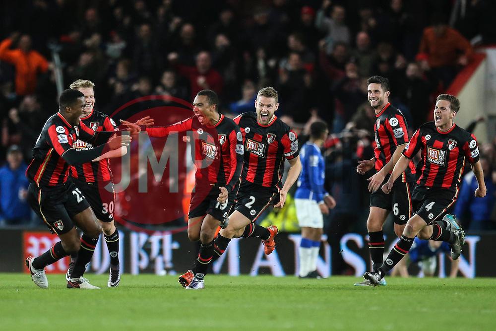 Goal, Junior Stanislas of Bournemouth scores the equaliser, Bournemouth 3-3 Everton - Mandatory by-line: Jason Brown/JMP - Mobile 07966 386802 28/11/2015 - SPORT - FOOTBALL - Bournemouth, Vitality Stadium - AFC Bournemouth v Everton - Barclays Premier League