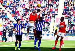 Will Vaulks of Rotherham United jumps to head the ball - Mandatory by-line: Ryan Crockett/JMP - 16/02/2019 - FOOTBALL - Aesseal New York Stadium - Rotherham, England - Rotherham United v Sheffield Wednesday - Sky Bet Championship