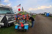 tropical decorated golf cart, 25th infantry, tropic lightning, Kokomo Indiana Vietnam Veterans Reunion 2012