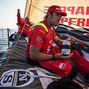 Leg Zero, Prologue, day 2  on-board MAPFRE. Photo by Jen Edney/MAPFRE/Volvo Ocean Race. 09 October, 2017. Etapa prologo. dia 2 a bordo MAPFRE.