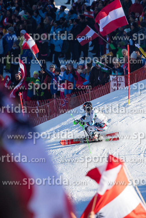 22.01.2017, Hahnenkamm, Kitzbühel, AUT, FIS Weltcup Ski Alpin, Kitzbuehel, Slalom, Herren, 1. Lauf, im Bild Christian Hirschbuehl (AUT) // Christian Hirschbuehl of Austria in action during his 1st run of men's Slalom of FIS ski alpine world cup at the Hahnenkamm in Kitzbühel, Austria on 2017/01/22. EXPA Pictures © 2017, PhotoCredit: EXPA/ Johann Groder