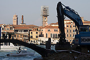 Giudecca. Demolition and construction works.