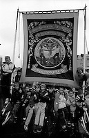 Silverwood Branch banner. 1991 Yorkshire Miners Gala. Doncaster.