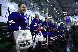 Goalkeeper Luka Simsic, Toni Tisler at friendly ice-hockey game Slovenia Oldies vs Gazprom Export (Russia), on October 24, 2008 in Hala Tivoli, Ljubljana, Slovenia. Gazprom Export won 6:3.(Photo by Vid Ponikvar / Sportal Images)