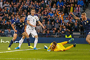 GOAL! John McGinn (Aston Villa) shoots from close range to give Scotland the lead during the UEFA European 2020 Qualifier match between Scotland and Russia at Hampden Park, Glasgow, United Kingdom on 6 September 2019.