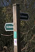 Bridleway path signpost