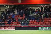 Forest Green Rovers away supporters during the EFL Sky Bet League 2 match between Crewe Alexandra and Forest Green Rovers at Alexandra Stadium, Crewe, England on 20 March 2018. Picture by Shane Healey.