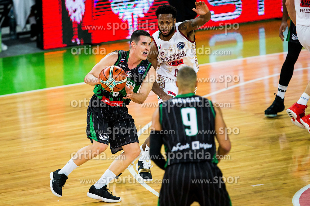 Jan Span of Petrol Olimpija during basketball match between KK Petrol Olimpija Ljubljana and Umana Reyer Venezia (ITA) in Round #5 of FIBA Basketball Champions League 2017/18, on November 7, 2017 in Arena Stozice, Ljubljana, Slovenia. Photo by Vid Ponikvar / Sportida