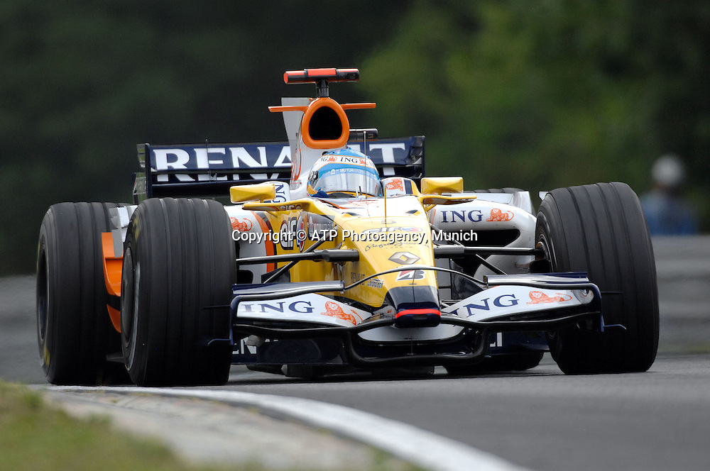 FERNANDO ALONSO, Spain - Team Renault - F1 Grand Prix Qualifying, Hungary. 02 August 2008. Photo: ATP/PHOTOSPORT