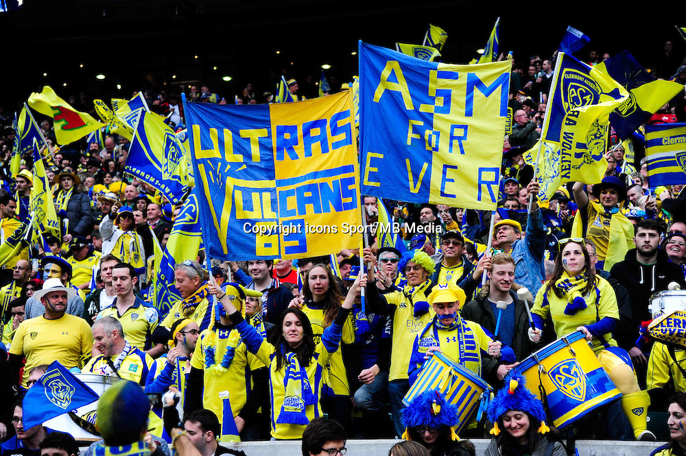 Supporters Clermont - 02.05.2015 - Clermont / Toulon - Finale European Champions Cup -Twickenham<br />Photo : Dave Winter / Icon Sport