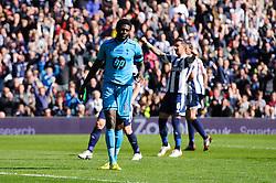 Emmanuel Adebayor (TOG) of Tottenham Hotspur looks dejected after his penalty is saved - Photo mandatory by-line: Rogan Thomson/JMP - 07966 386802 - 12/04/2014 - SPORT - FOOTBALL - The Hawthorns Stadium - West Bromwich Albion v Tottenham Hotspur - Barclays Premier League.