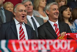 LIVERPOOL, ENGLAND - Saturday, April 23, 2011: Liverpool supporter, MP Michael Howard and former player Ian Rush before their side's Premiership match against Birmingham City at Anfield. (Photo by David Rawcliffe/Propaganda)