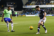 Ben Marshall of Millwall and Nathaniel Mendez-Laing of Cardiff City during the EFL Sky Bet Championship match between Millwall and Cardiff City at The Den, London, England on 9 February 2018. Picture by Toyin Oshodi.