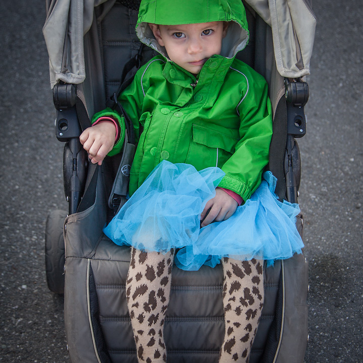 """Two year old neighbor Mary Teressa  """"Mary Teressa has a great sense of fashion""""  -Caroline Campisi, M.T.'s mother"""