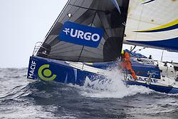 June 6, 2017 - EN MER - Charlie Dalin (Skipper Macif 2015) lors de la 1ere etape de la Solitaire Urgo Le Figaro 2017 entre Bordeaux et Gijon - le 06/06/2017 (Credit Image: © Panoramic via ZUMA Press)