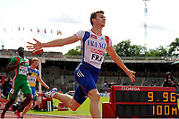 ATHLETICS - TEAM EUROPEAN CHAMPIONSHIPS 2011 - STOCKHOLM (SWE) - 18-19/06/2011 - PHOTO : STEPHANE KEMPINAIRE / DPPI - <br /> 100 M MEN - WINNER - CHRISTOPHE LEMAITRE (FRA)