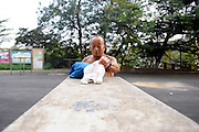 QINGDAO, CHINA - AUGUST 23: (CHINA OUT)<br /> <br /> 73-year-old Diver<br /> <br />  73-year-old man Zhang Quantong exercises parallel bars in the morning on August 23, 2015 in Qingdao, Shandong Province of China. Zhang Quantong, a man who was in 73 years old and best at diving when he was young, persisted diving every day for over ten years. He even did 208 dives at the first day of the year 2008 to welcome China\'s Olympic Games. While a traffic accident that he was knocked down by a bus stopped his diving in 2014, he was in hospital for three months and then returned to diving. According to Mr.Zhang, if you like it, just do it.<br /> ©Exclusivepix Media
