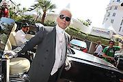 KARL LAGERFELD - PEOPLE A CANNES A LA VEILLE DE L'OUVERTURE DU 64 ème FESTIVAL DU FILM DE CANNES 2011<br /> <br /> PEOPLE IN CANNES AT THE CANNES MOVIE FESTIVAL 2011 (64th)