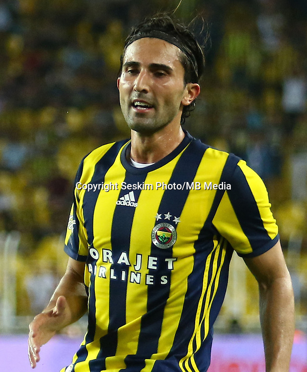 UEFA Europa league Playoff first leg match between Fenerbahce and Grasshoppers at Ulker Stadium in Istanbul on August 18 , 2016.<br /> Final Score : Fenerbahce 3 - Grasshoppers 0<br /> Pictured:  Hasan Ali Kaldirim of Fenerbahce.