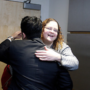 Valgas meets by-chance with Ilena Cintron, she is a member of the Democratic MA Caucause.<br />
