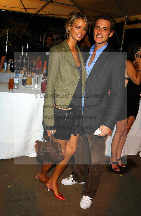 Model JACQUETTA WHEELER and ALEXI LUBONIRSKI at an exclusive evening featuring the greatest talents in fashion today in aid of the African children who have been affected bt the AIDS epidemic held at the Chelsea Gardener, Sydney Street, London on 20th September 2004<br /><br />NON EXCLUSIVE - WORLD RIGHTS