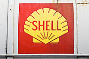 Shell Oil Company logo on oil tank, Gloucestershire, United Kingdom