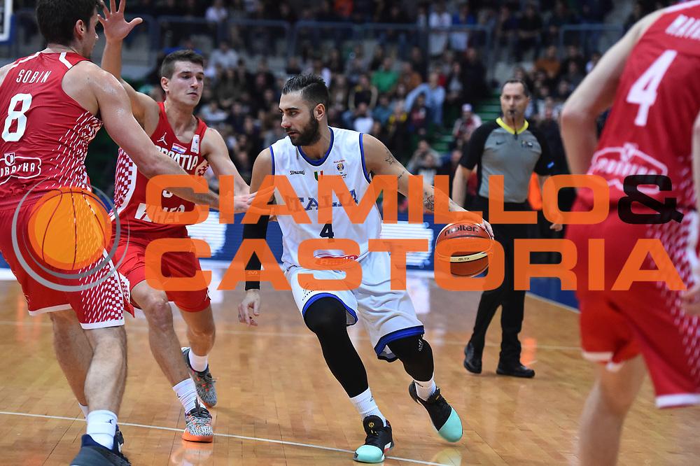 Nazionale Italiana Maschile Senior - 2019 FIBA Basketball World Cup Qualifiers<br /> Croazia Italia Croatia Italy<br /> FIP 2017<br /> Zagabria, 26/11/2017<br /> Foto Ciamillo