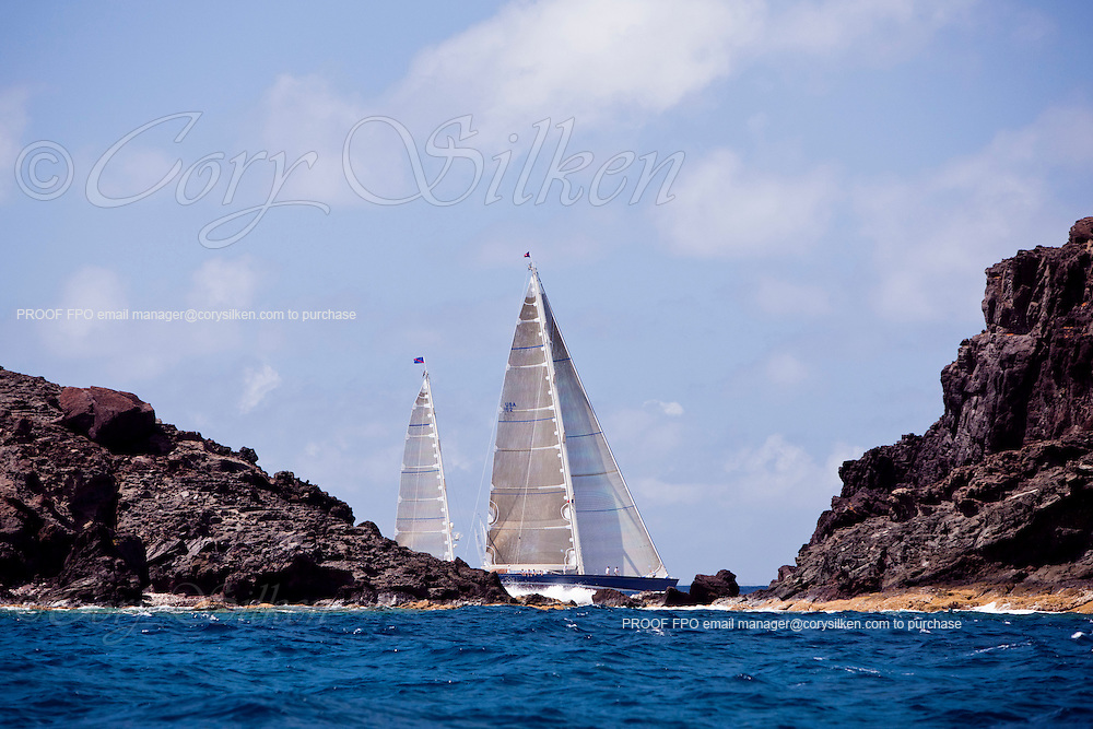 Rebecca Sailing in the 2011 St. Barths Bucket Race 2.