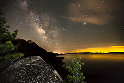 """Milky Way Over Lake Tahoe 3"" - Photograph of the Milky Way above Lake Tahoe's east shore."