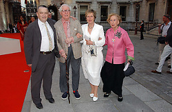 Left to right, NORMAN ROSENTHAL, JOHN RUSSELL, LADY GRIMSHAW andROSAMUND BERNIER  at the Royal Academy of Art's SUmmer Party following the official opening of the Summer Exhibition held at the Royal Academy of Art, Burlington House, Piccadilly, London W1 on 7th June 2006.<br /><br />NON EXCLUSIVE - WORLD RIGHTS