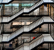 Staircase inside an office building in the Docklands