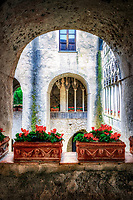"""Moorish style cloister and gardens in Villa Rufolo, Ravello""…<br />