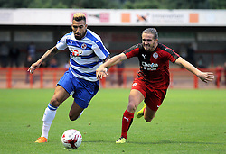 Danny Williams of Reading and Luke Rooney of Crawley Town in action - Mandatory by-line: Paul Terry/JMP - 07966386802 - 27/07/2015 - SPORT - FOOTBALL - Crawley,England - Broadfield Stadium - Crawley Town v Reading - Pre-Season Friendly