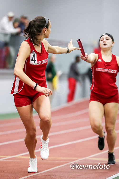 womens 4x400 relay, Sacred Heart<br /> Multi-team Meet Indoor Track & Field