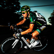 David Veilleux of Europcar at the Mardis Cyclistes in Lachine on August,  6 2013