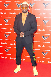 © Licensed to London News Pictures. 03/01/2019. London, UK. WILL.I.AM attends the The Voice UK 2019 ITV press launch. Photo credit: Ray Tang/LNP