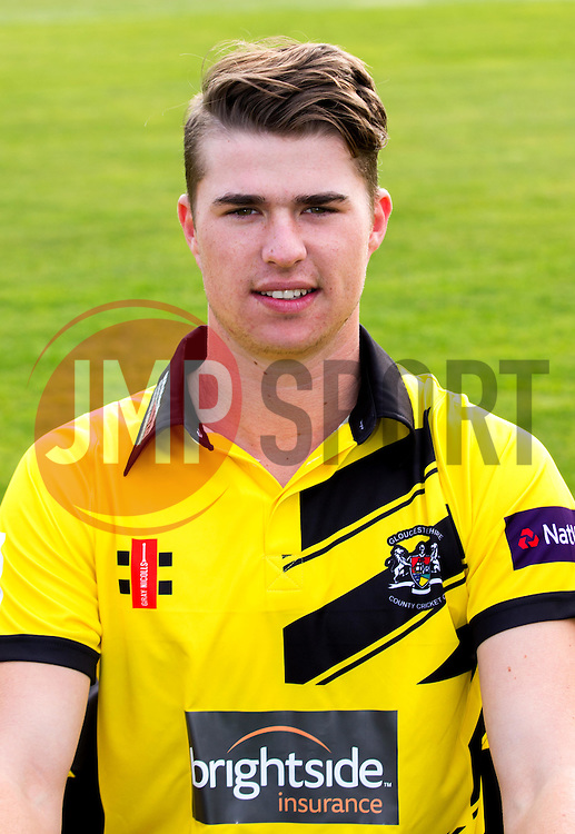 George Hankins of Gloucestershire Cricket poses for a headshot in the NatWest T20 Blast kit - Mandatory by-line: Robbie Stephenson/JMP - 04/04/2016 - CRICKET - Bristol County Ground - Bristol, United Kingdom - Gloucestershire  - Gloucestershire Media Day