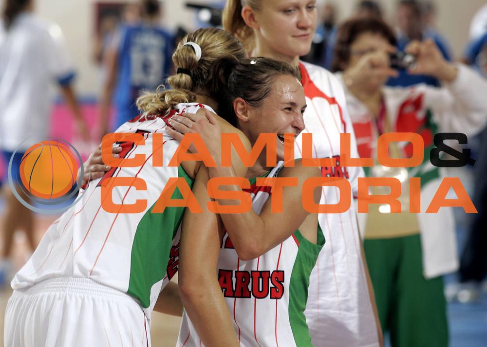 DESCRIZIONE : Ortona Italy Italia Eurobasket Women 2007 Bielorussia Italia Belarus Italy <br /> GIOCATORE : Team Bielorussia Team Belarus <br /> SQUADRA : Bielorussia Belarus <br /> EVENTO : Eurobasket Women 2007 Campionati Europei Donne 2007 <br /> GARA : Bielorussia Italia Belarus Italy <br /> DATA : 03/10/2007 <br /> CATEGORIA : Esultanza <br /> SPORT : Pallacanestro <br /> AUTORE : Agenzia Ciamillo-Castoria/H.Bellenger <br /> Galleria : Eurobasket Women 2007 <br /> Fotonotizia : Ortona Italy Italia Eurobasket Women 2007 Bielorussia Italia Belarus Italy <br /> Predefinita :