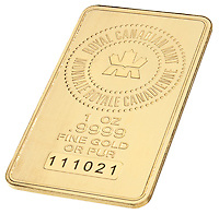 gold wafer canadian mint