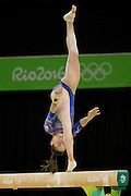 Aug 15, 2016 - Rio de Janeiro, Brazil - ISABELA ONYSHKO of Canada during her Women's Beam performance at the Rio 2016 Summer Olympic Games.<br /> ©Exclusivepix Media