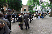 55th Art Biennale in Venice - The Encyclopedic Palace (Il Palazzo Enciclopedico).<br /> Giardini. Queues.