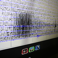 The Berkeley Seismological Lab shows in graph form, the seismogram  from the Napa earthquake as seen from a recording station located in Berkeley, California, on Sunday, August 24, 2014. A 6.1 magnitude earthquake caused significant damage and left three critically injured in California's northern Bay Area early Sunday, igniting fires, sending at least 87 people to a hospital, knocking out power to tens of thousands and sending residents running out of their homes in the darkness. Aftershocks are still being captured across the area by the seismometers that are recording seismic data, and logged at the lab.  (AP Photo/Alex Menendez)
