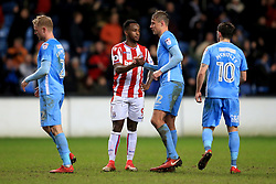 6 January 2018 -  The FA Cup - 3rd Round - Coventry City v Stoke City - Saido Berahino of Stoke City is consoled by Tom Davies of Coventry City - Photo: Marc Atkins/Offside